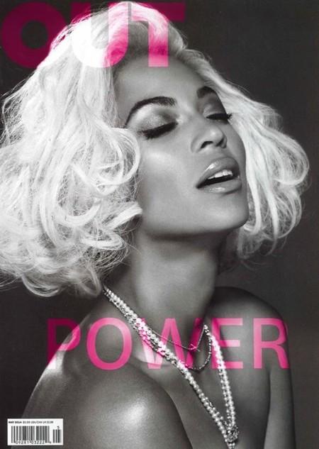 Rubia, divina, sexy... todo lo tiene Beyoncé en la portada de la revista Out Magazine