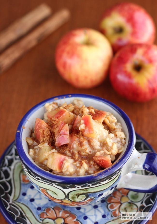 Beneficios de la avena con manzana y leche
