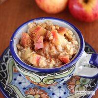 Avena con manzana, canela y miel. Receta para el desayuno