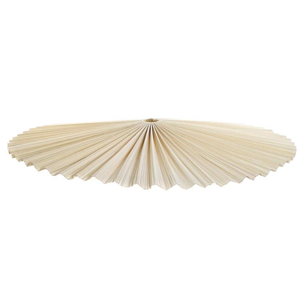 Pantalla para lámpara de techo estilo Exótico fabricada en fibra de bambú