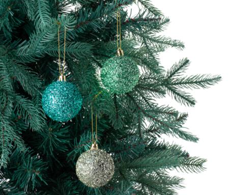 Set 6 Bolas Glitter Navidad El Corte Ingles