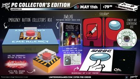 Among Us tendrá su propio botón rojo de emergencia gracias a la edición de coleccionista de Limited Run Games