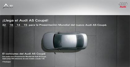 Microsite del Audi A5