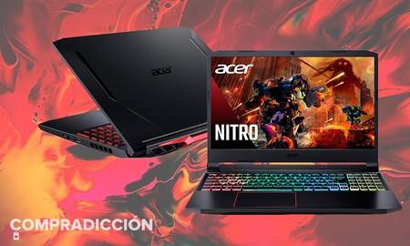 Este portátil gaming Acer Nitro 5 AN515-55 con gráfica RTX3060 cuesta 200 euros menos en la Semana Web de MediaMarkt