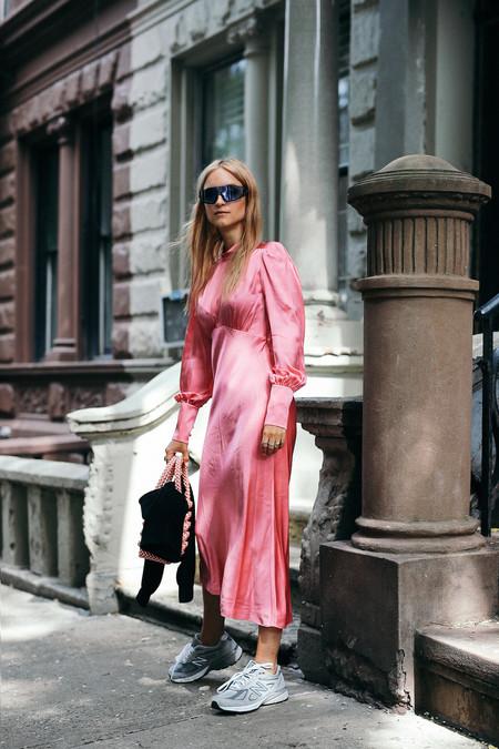 Combinar Vestido Rosa Zapato Bolso 02