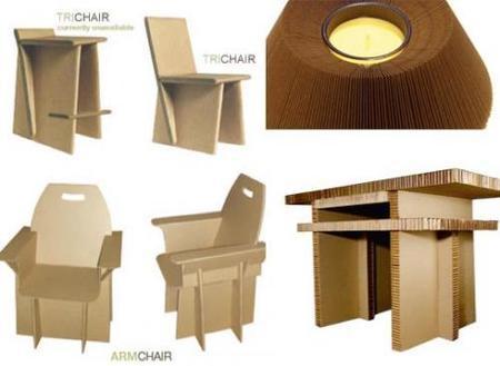 Colección de muebles de cartón de Cardboardesigns