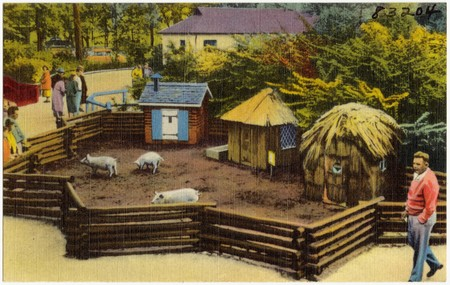 The Three Little Pigs At The Children S Zoo Belle Isle Detroit Michigan 83204