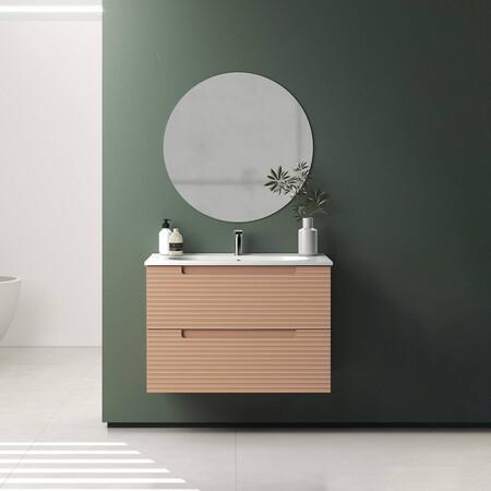 Siete lavabos de tendencia con los que incorporar la palilleria o las líneas verticales al cuarto de baño