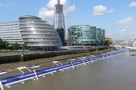 Thames Deckway: Londres planifica un polémico carril bici de peaje sobre el Támesis