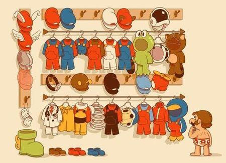 Imagen de la semana: el armario de... ¿Luigi?