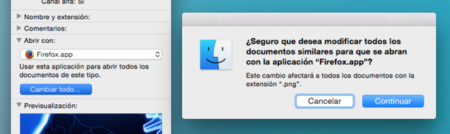 Archivo Cambiar Aplicacion Mac OS X Apple