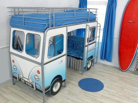 Cama caravana para la habitación infantil