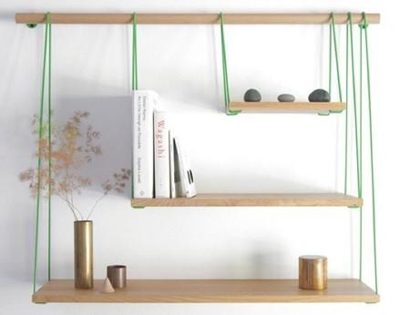Un puente colgante como inspiración de una sencilla estantería