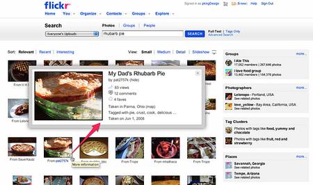 Nueva búsqueda mejorada en flickr