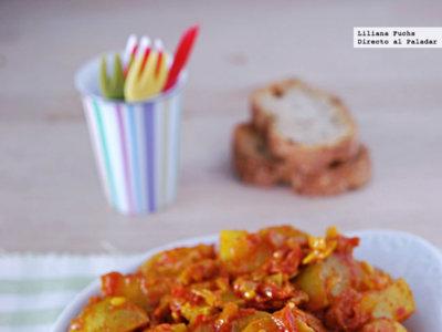 Patatas Bombay. Receta de aperitivo