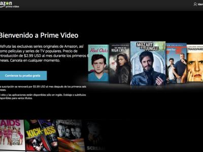 Amazon Prime Video ya está disponible en México