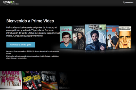 Amazon Prime Video ya está disponible en México