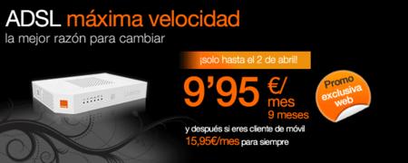 Orange apunta alto: ADSL por 9,95 euros al mes durante nueve meses