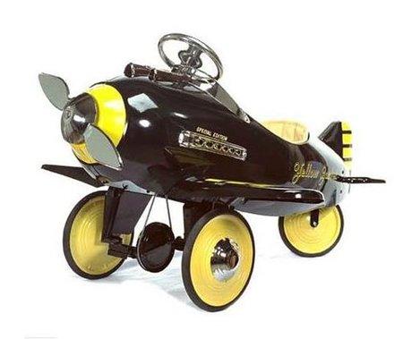 El avión con pedales Yellow Jacket Airplane, un juguete muy exclusivo