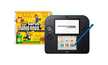 Si tienes regalos infantiles que hacer, en Mediamarkt esta mañana tienes la Nintendo 2DS por 88 euros con New Super Mario 2