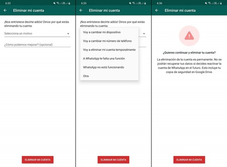 Pasos Proceso Eliminar Cuenta Whatsapp Android Ios Mexico