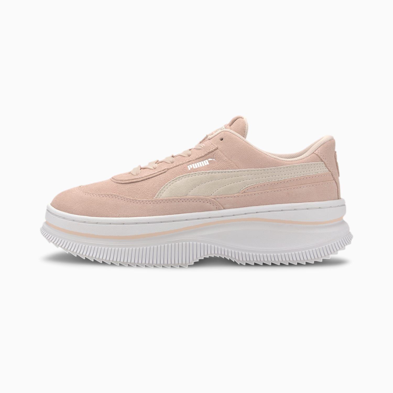 Sneakers en rosa empolvado con plataforma