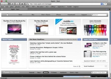 Apple rediseña su página de inicio
