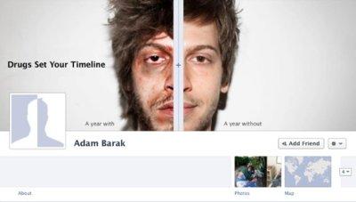 Imagen de la semana: el Timeline de Facebook como una campaña antidroga