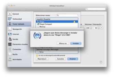 OS X Lion: Cómo instalar las nuevas voces en español