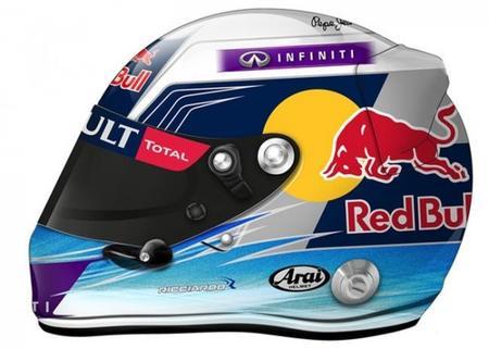 Daniel Ricciardo presentó el casco que lucirá en Abu Dhabi