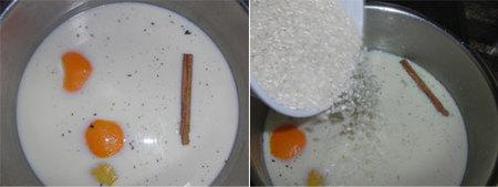 Preparación del arroz con leche