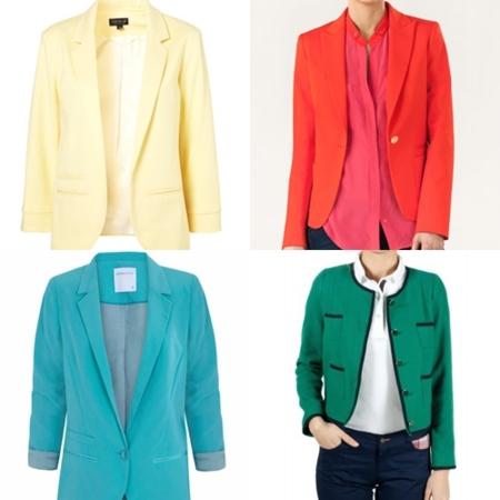 chaquetas colores