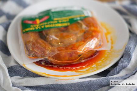 Chorizos a la sidra para microondas - 3