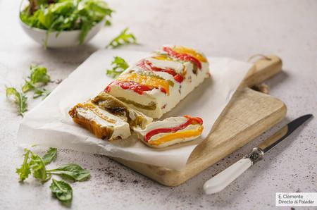 Terrina de pimientos con queso crema