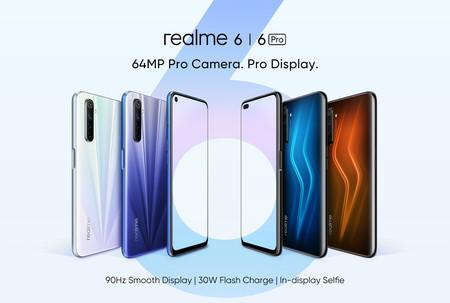 realme 6 y 6 Pro: pantalla a 90 Hz, cámara de 64 megapixeles y carga rápida de 30W en la gama media-alta que queremos ver en México