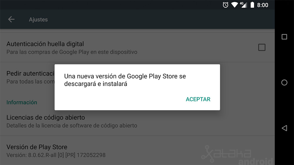 Play Store No Actualizado