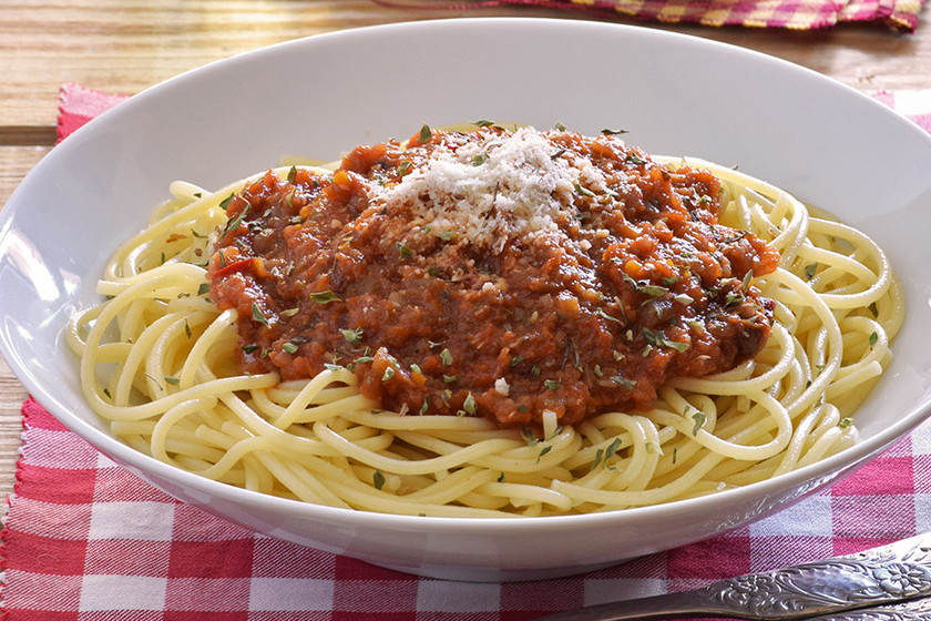 Macarrones a la bolonesa dieta disociada definitiva