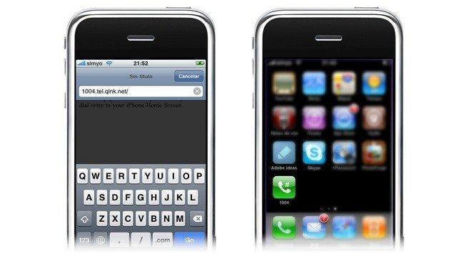 Añadir acceso para llamada rápida a la pantalla de inicio del iPhone