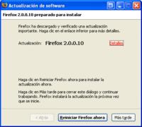 Firefox 2.0.0.10, otra actualización