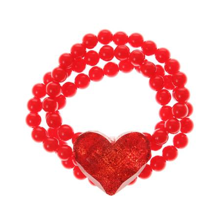Red Heart Multi Strand Bead Bracelet 4 50gbp 4 99eur 8 90chf 19 90pln