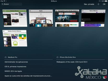 Safari en iOS 8