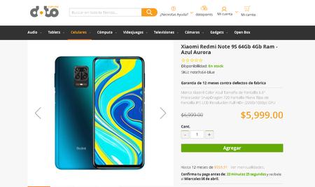 Redmi Note 9s Mexico Precio Doto