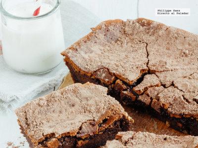Pastel sin harina de chocolate y nuez.Receta