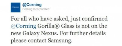La pantalla del Galaxy Nexus no es Gorilla Glass
