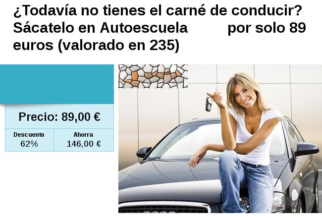 Ofertas de autoescuelas baratas