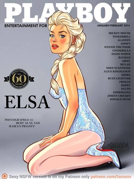 Un artista imagina qué pasaría si las Princesas Disney protagonizaran la portada de Playboy