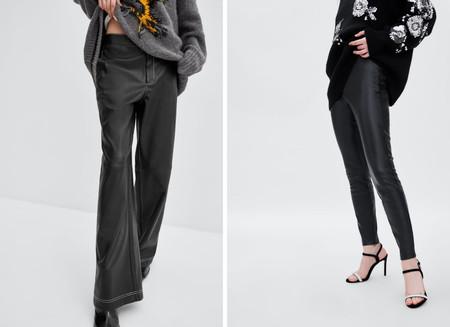 pantalones cuero lowcost zara