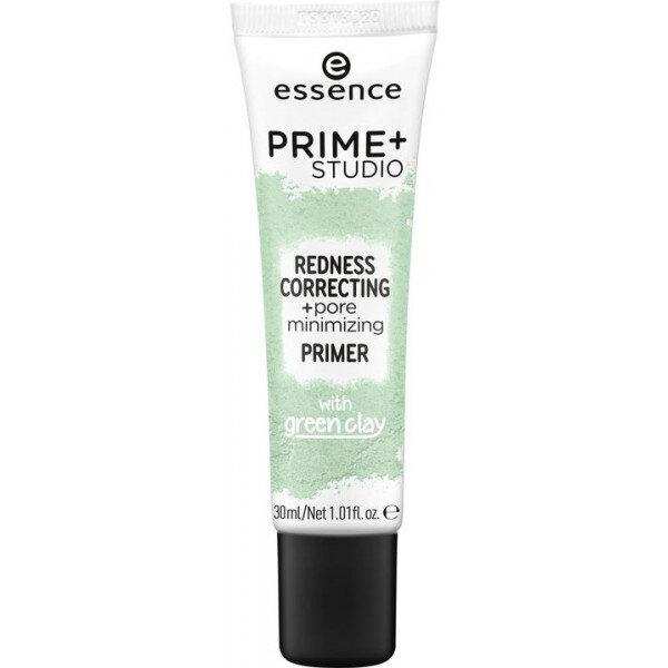 prime + studio corrector de rojeces + primer minimizador de poros
