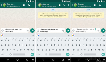 Whatsapp Formato