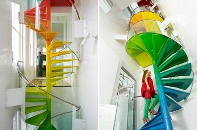 Una buena idea: una escalera arcoíris